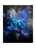 Still Life Blue Flowers