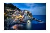 Manarola Night  Cinque Terre  Liguria  Italy