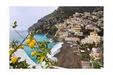 Positano Spring Scenic Vista  Amalfi Coast  Italy