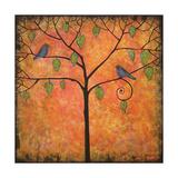 Art Print Tree of Life Tangerine Tango Sky