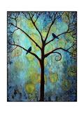Tree Print Twilight Blue