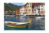 Classic Boat in Portofino Harbor  Liguria  Italy