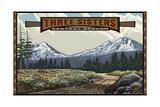Three Sisters  Oregon Pal 1892