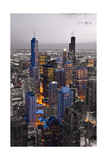 Chicago Loop Sundown BW Color Blend