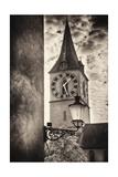 Clocktowwer of  St Peter Church  Zurich  Switzerland