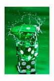 Green Dice Splash