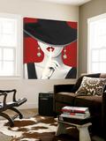 Haute Chapeau Rouge I Toile Murale Géante par Marco Fabiano