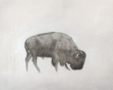 Buffalo (left) Reproduction d'art par Jacqueline Neuwirth