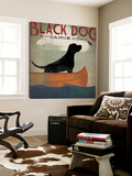 Black Dog Canoe Toile Murale Géante par Ryan Fowler