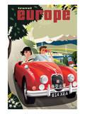 Travel Europe  Red Jaguar