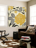 Perfect Petals II Yellow Toile Murale Géante par Pela Design