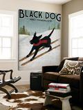 Black Dog Ski Toile Murale Géante par Ryan Fowler
