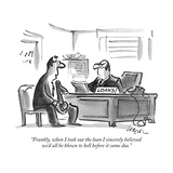 """""""Frankly  when I took out the loan I sincerely believed we'd all be blown …"""" - New Yorker Cartoon"""