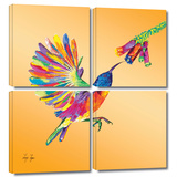 Humming 4 piece gallery-wrapped canvas