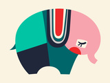Bauhaus Elephant Reproduction d'art