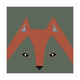Fox Face Reproduction d'art