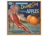 Diving Girl Brand California Apples