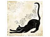 Stretching Burlap Cat