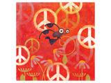 Peace Sign Ladybugs II