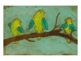 Key Lime Finches I