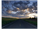 La Palouse Steptoe Road at Dawn