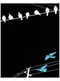 Birds on Power Lines II