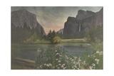 El Capitan (Left) and Bridalveil Falls (Right) Dominate the Landscape