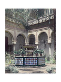 The Outdoor Garden Patio of a Moorish and Gothic Palace