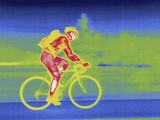 A Thermal Image of Bicycle Rider