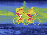 A Thermal Image of Bicycle Riders
