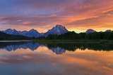 Mount Moran at Sunset on the Oxbow Bend of the Snake River