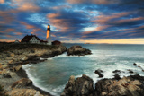 A Dramatic Sky at Sunset over the Portland Head Light