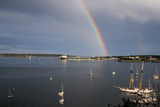 A Double Rainbow Falls over South Portland  Maine on a Summer Day