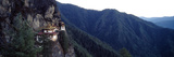 An Ancient Buddhist Monastery Perched on a Sheer Cliff Face in the Himalaya