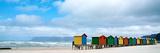 Brightly Colored Beach Huts at Fish Hoek on False Bay