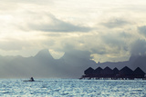 Tahiti Island  with Moorea in the Background
