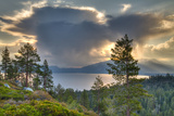 A Storm at Sunrise over Lake Tahoe  California