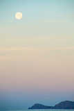 The Full Moon at Moonset over the British Virgin Islands