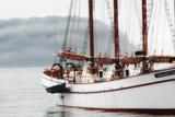 The Margaret Todd Sailboat at Anchor on a Foggy Morning