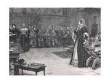 Trial of Mary Queen of Scots in Fotheringay Castle 1586