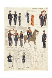 Various Uniforms of Republic of France