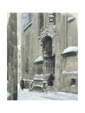The Passauerplatz in the Snow  Vienna  1905