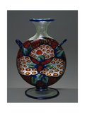 Colorless Blown Glass Vase with Murrine Decoration  1914-1916