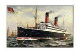 Künstler Cunard Line  SS Carmania  Dampfschiff