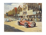 Alfa Romeo Car During Car Racing  Poster