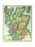 Map of Scotland or North Britain  1852  from JPurdy's Atlas