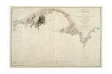 Map of Montevideo Harbor and Bay  from French Nautical Atlas  1833