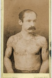Cabinet Card of a Tattooed Man  C1899