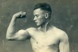 Portrait of a Bodybuilder  C1898
