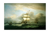 Man of War in Choppy Seas  1809